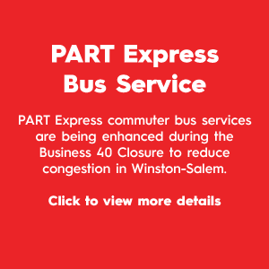 PART Express Bus Service Button